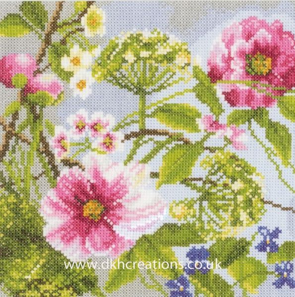 Peonies Evenweave Cross Stitch Kit